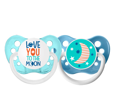 Love You to The Moon & Moon Teal