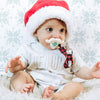 Holiday Mustache Pacifier & Accessory