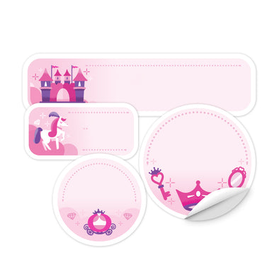 Personalized Princess Elements Daycare Labels