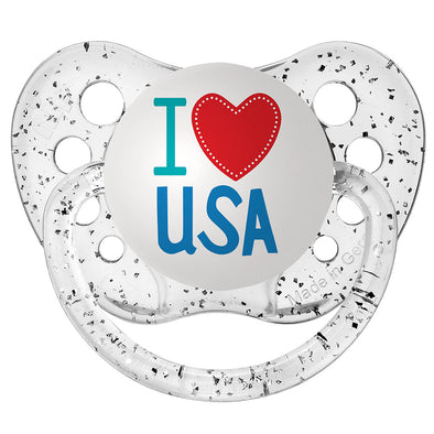 I Heart USA - Glitter Clear