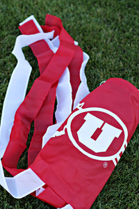 "60"" University of Utah Wavesock (Dahl Drum and Feather Stripe)"