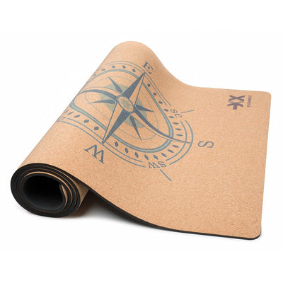 Compass Cork Yoga Mat 5mm