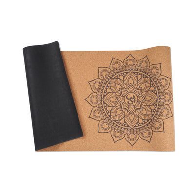 Mandala Cork Yoga Mat 3mm - Travel Mat