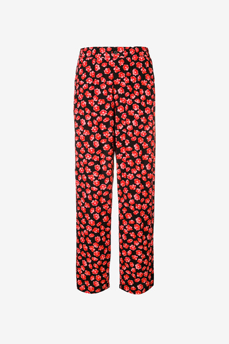 Flora printed pants with straight legs