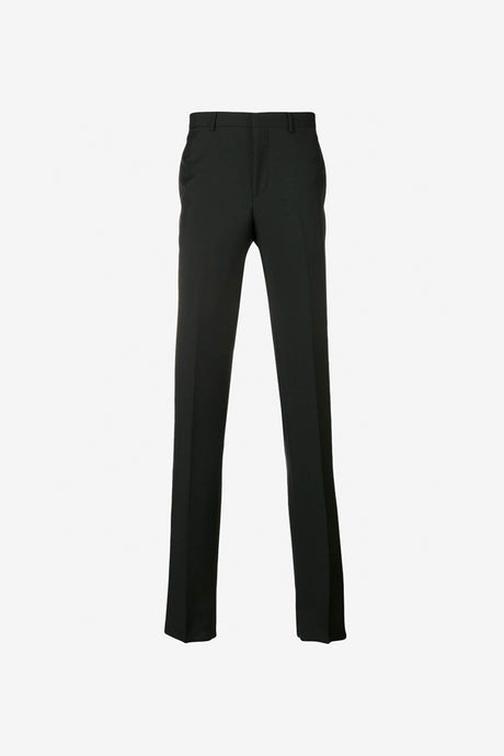 Slim Wool Trousers in black
