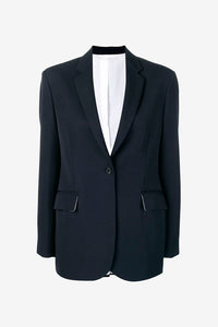 Navy colored single breasted blazer