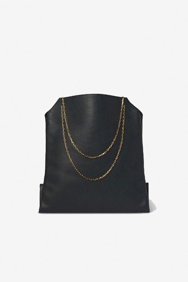Lunch Bag Big gold chain handles