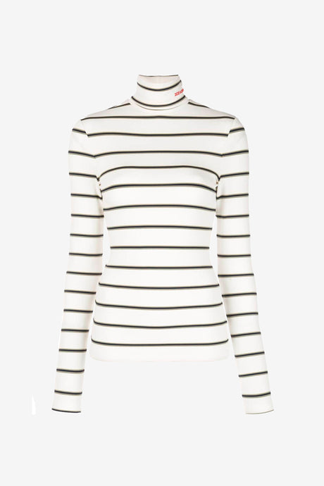 Long sleeves turtleneck with stripes