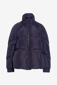 Navy fountain puffer with long sleeves