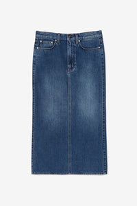 Midi lenght denim skirt Washed Blue Bitti