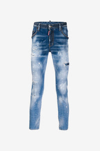 Skater Jeans faded and distressed finish slim fit