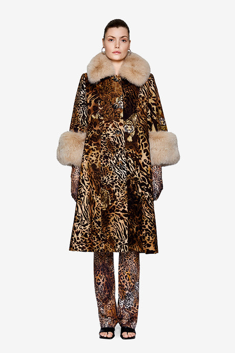 Saks Potts Yvonne Animal coat in brown