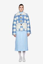Saks Potts Lucy Baby blue sheep skin jacket