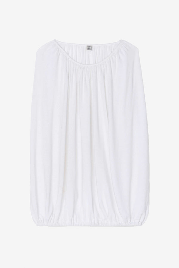 White viscose top draped details Maida