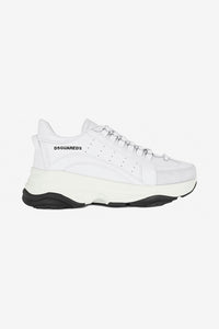 High Sole White sneaker black sole dsquared2 logo