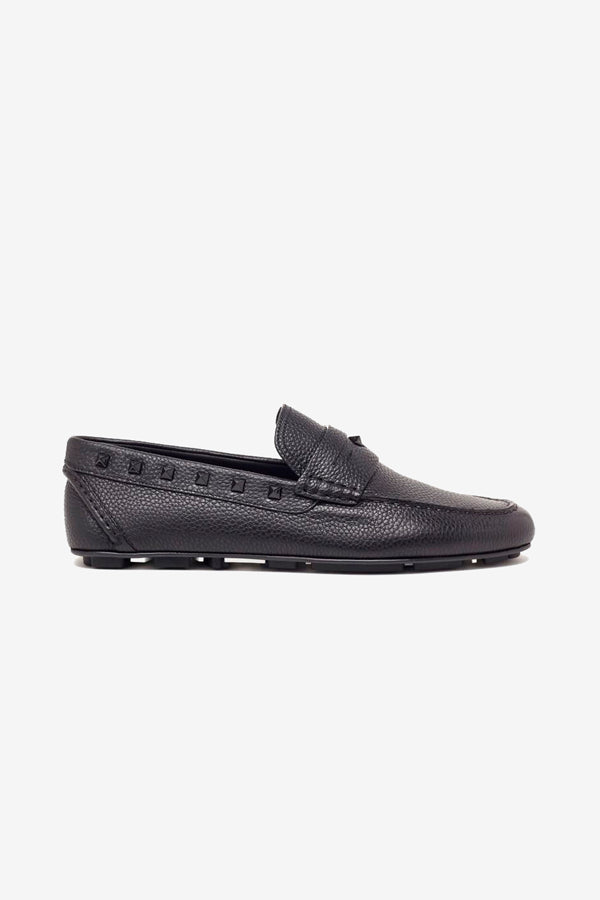 Stud Driver Loafers in black