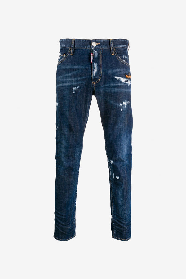 Cool Guy jeans distressed finish faded effects