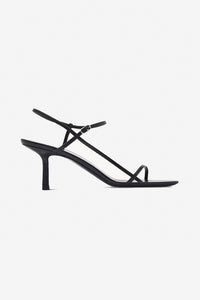 The Row Bare Sandal Black straps