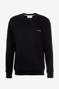 Black sweatshirt in black with white logo