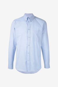 Embroidered Shirt in light blue cotton