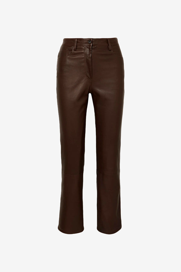 Charlee Leather Pants Brown Espresso