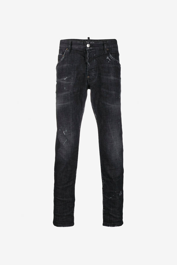 Grey Skater Jeans distressed effects