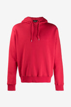 Red hoodie block ICON logo long sleeves