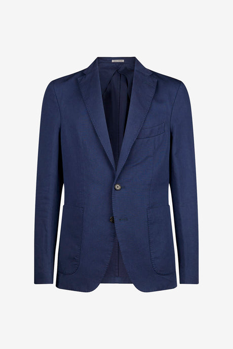Classic wool blazer in navy blue