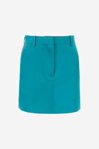 Mini skirt with contrast bands