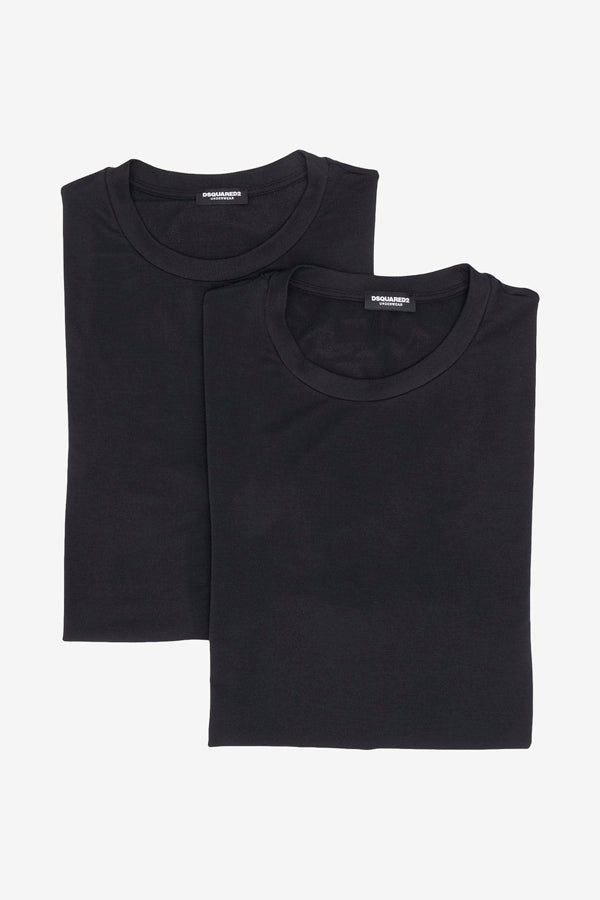 Two-pack T-shirt black classic modal mix short sleeved t-shirts