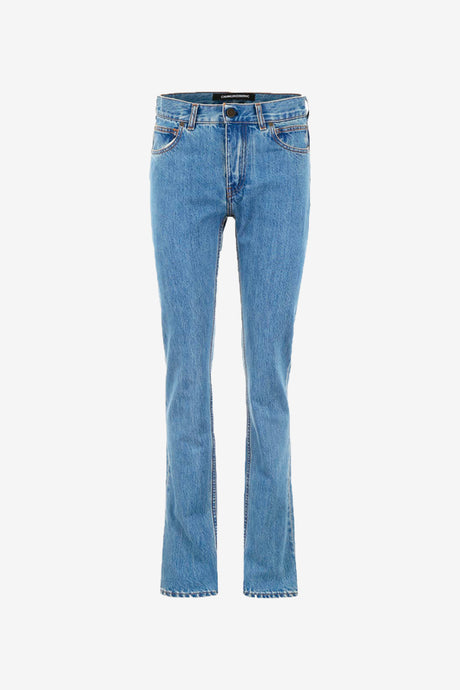 Straight leg jeans with pockets