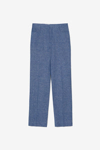 Blue Melange trousers long legs Troia