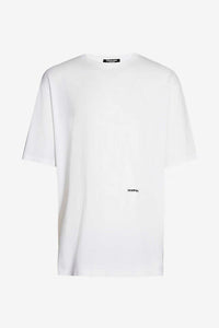 White cotton jersey t-shirt with embroidered logo