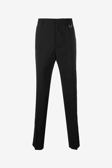 Black trousers with white stripe down the legs