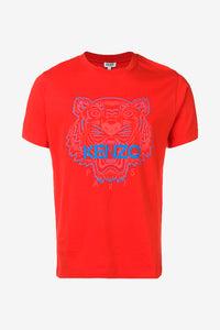 Red tiger logo t-shirt from kenzo