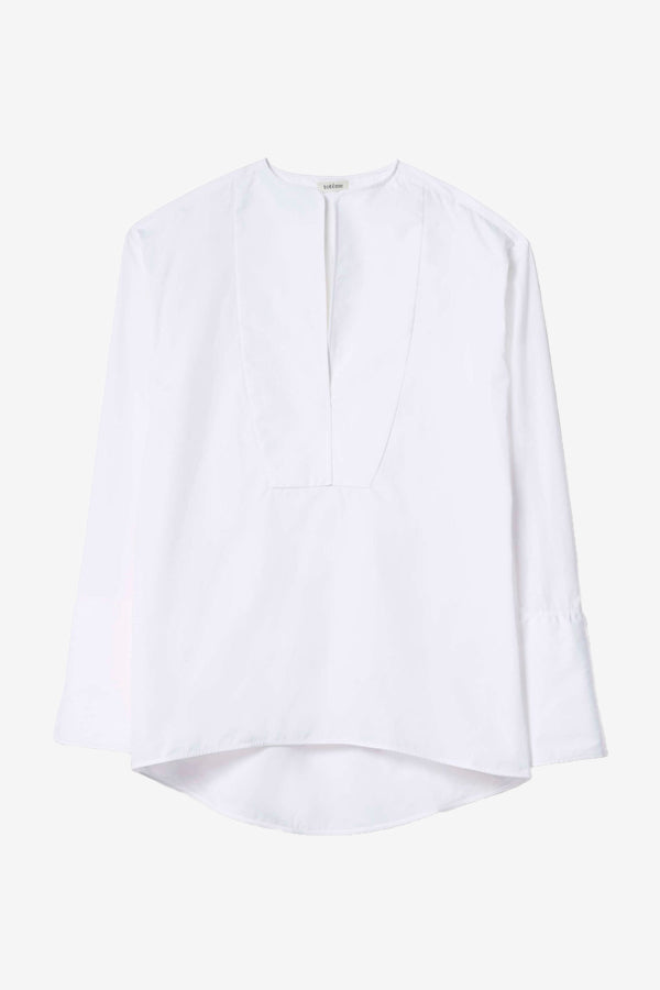 Millay Blouse in white crisp cotton