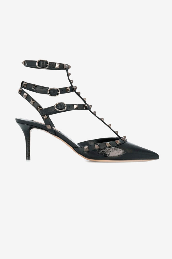 Black leather pumps from Valentino