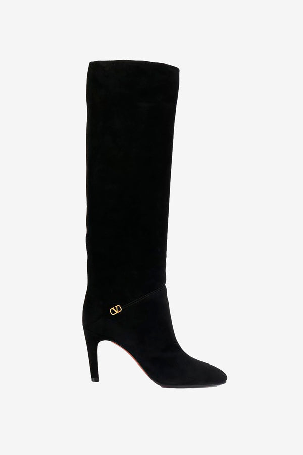 High heel boots in black from Valentino