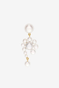 Freshwater pearl earring in 14k yellow gold