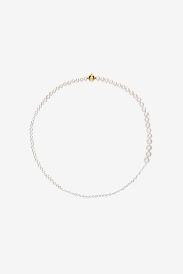 40CM necklace in freshwater pearls and 14k yellow gold