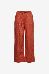 Rust red printed pants from Toteme