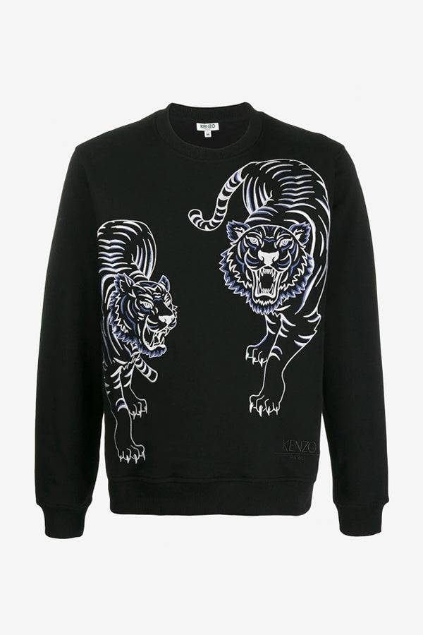 Double Tiger Sweatshirt in Black
