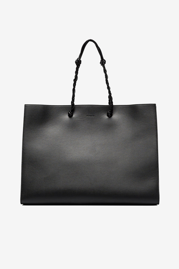 Tangle tote MD with leather knotted handles