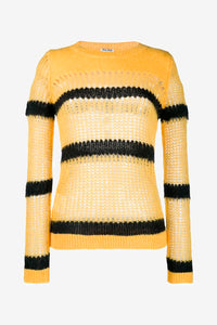 Yellow/black knit in wool from Miu Miu