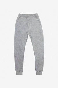 Classic sweatpants in grey with tapered legs and rib hem