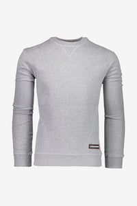 Plain and classic grey sweatshirt with long sleeves