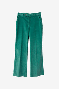 Low waist cotton pants with a flared shape
