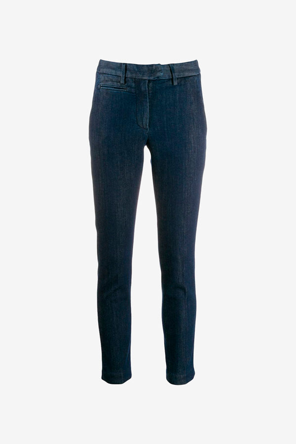 Denim pants with a slim fit