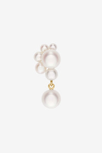 Pearl earring in 14k yellow gold