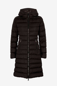 Long down-jacket in black from Moncler